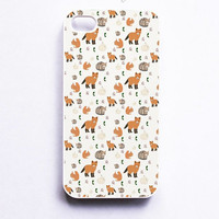 Fox And Cat Pattern Phone Case For iPhone Samsung iPod Sony