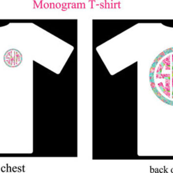 Monogram T-Shirt Adult and Chirdren