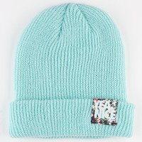Yea.Nice Fold Beanie Mint One Size For Men 22516952301
