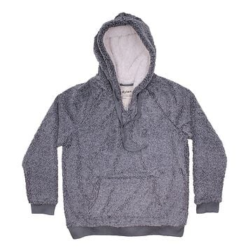 Heathered Berber Cozy Hoodie in Blue by True Grit (Dylan) - FINAL SALE