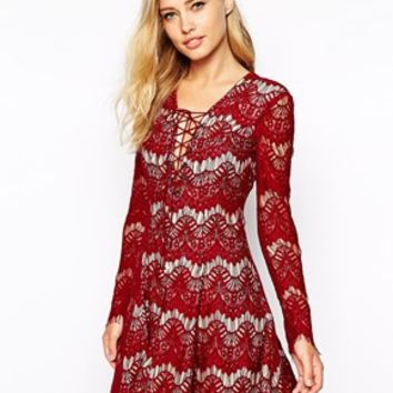 Stylestalker Love Machine Lace Dress With Lace Up