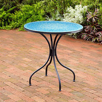 Turquoise Cadiz Mosaic Bistro Table | Outdoor and Patio Furniture| Furniture | World Market