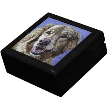 Keepsake/Jewelry Box - Labrador Dog - Lacquer Wood Box