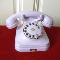 ON SALE! Vintage Bakelite Rotary Dial Mid Century Telephone Pupin Lilac Home Decor 1950s