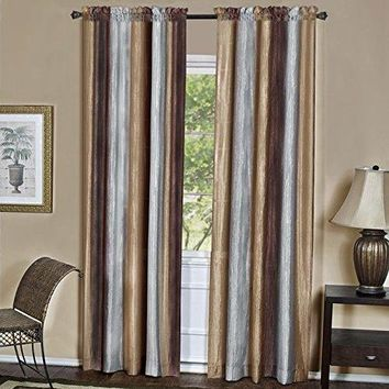 Ben&Jonah Collection Ombre Window Curtain Panel 50x63 - Chocolate