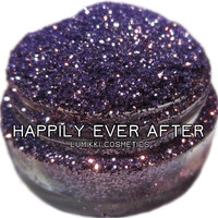 Happily Ever After GLITTER 5 Gram Full Size Jar Periwinkle Violet Lilac Lavender Purple Glitter Magic Glitter Collection Lumikki Cosmetics