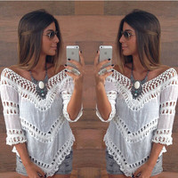 Fashion women lace blouse [RHA26SU]