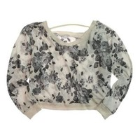 -Material Girl womens Floral Sweater - Style A296LJ428D-Clothing-Juniors-Graphic Tees