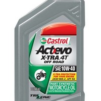 Castrol 06390 Actevo Xtra 10W-40 4-Stroke Motorcycle Oil - 1 Quart, (Pack of 6) | AihaZone Store