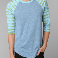 Urban Outfitters - BDG Printed Triblend Baseball Tee