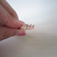 crown ring-rose gold/gold ring in crown-i am the best ring-great gift