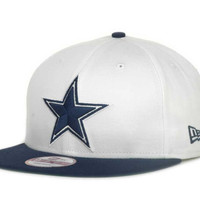 Dallas Cowboys NFL White Top Snap 9FIFTY Cap