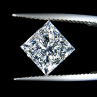 Sparkling princess cut loose 2 carat diamond E VVS1 new