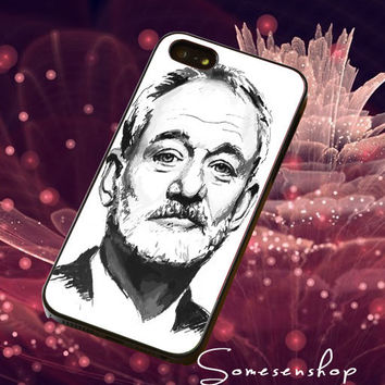 Black White Ghostbuster,Bill murray ,painting /CellPhone,Cover,Case,iPhone Case,Samsung Galaxy Case,iPad Case,Accessories,Rubber Case/2-4-14