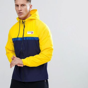 New Balance 78 Windbreaker Jacket In Yellow MJ73557_AYL at asos.com