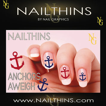ANCHORS AWEIGH  22 Anchor Nail Decal  Nail Art  Nail Design NAILTHINS