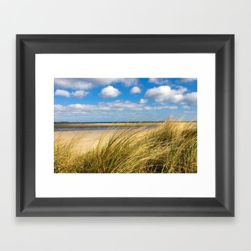 Beach whispers Framed Art Print by Tanja Riedel