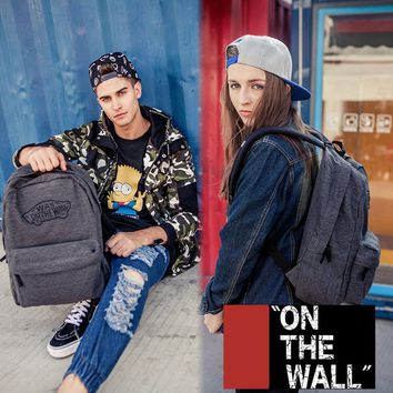 VansFashion Personality printing large capacity backpack bag leisure travel boom Gray 7 style