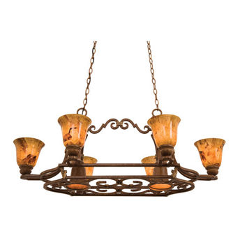 Kalco Lighting 5171TC-PS11 Avondale Toscana Eight-Light Pot Rack