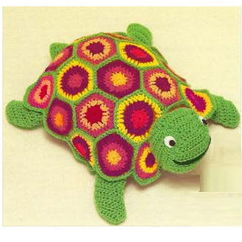 Crochet TOY Pattern Vintage 70s Crochet Turtle Toy Pattern Stuffed Animal Crochet Baby Toy Pattern Instant Download