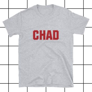 Chad Alpha Jock Bro Athletic Grey Unisex T-Shirt