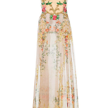 Printed Chiffon Illusion Bodice Dress | Moda Operandi