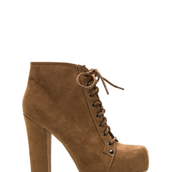 Easy Decision Faux Suede Chunky Booties