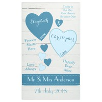Wedding Backdrop Photo Booth Blue Banner