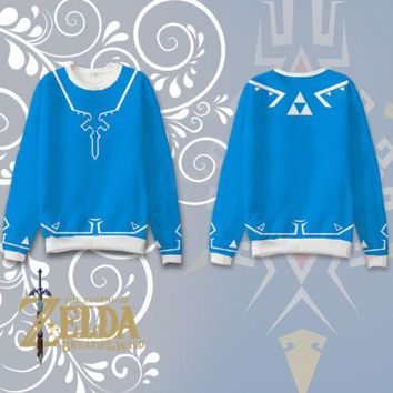 Unisex Anime The Legend of Zelda Hoodies Tops Cosplay Costume Otaku Sweatshirts