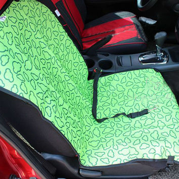 """[Green Clouds]Waterproof Solid Color Single Seat Dog Car Seat Cover (21""""""""Wx41""""""""L)"""