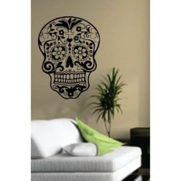 Sugarskull Wall Vinyl Decal Sticker Art Graphic Sticker Sugar Skull