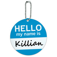 Killian Hello My Name Is Round ID Card Luggage Tag