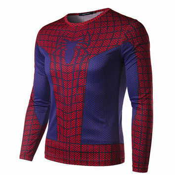 New Red Spider Man T-shirt 3D Stereoscopic Animation Performance Clothing