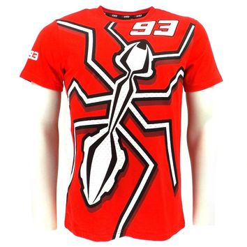Marc Marquez 93 Moto GP T-shirt Motocorss Racing Sports MM93 Large Ant T shirt Red