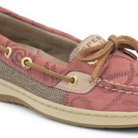 Sperry Top-Sider Angelfish Rope Embossed Slip-On Boat Shoe WashedRedRopeLeather, Size 10M  Women's Shoes