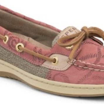 Sperry Top-Sider Angelfish Rope Embossed Slip-On Boat Shoe WashedRedRopeLeather, Size 11M  Women's Shoes