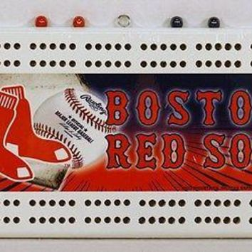Boston Red Sox MLB Licensed Cribbage Board FREE US SHIPPING