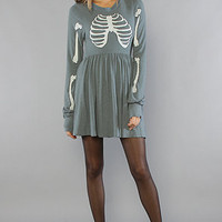 The Skeleton London Baby Doll Dress in Blue Jean : Wildfox : Karmaloop.com - Global Concrete Culture