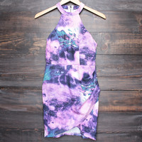 dahlia abstract print bodycon dress