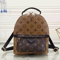 LV Louis Vuitton 2018 Trendy Women's Fashion High Quality Leather Tote F Brown