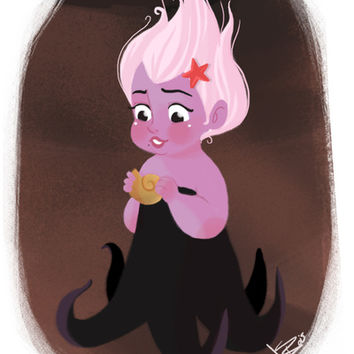 Disney Little Villain - Ursula Art Print by Vivianne du Bois