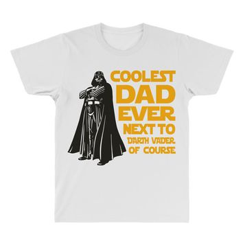 Coolest Dad Ever Next to Darth Vader of Course All Over Men's T-shirt