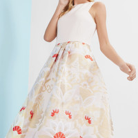OPULENT ORIENT MIDI DRESS - Straw | Dresses | Ted Baker