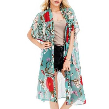 Hibiscus Butterfly Kimono/ Swimsuit Cover up