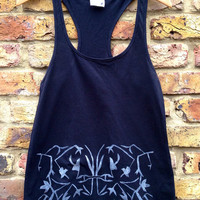 Isnic Print Vest - Hand painted, Organic Cotton,