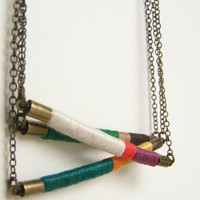 DESIGN YOUR OWN custom Davis necklace  textile by OrangeistheSun