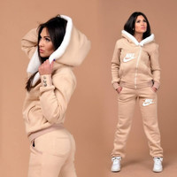 "2016 ""Nike"" Winter Cotton Thickening Plush Leisure Sports Suit"
