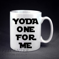 Yoda Star Wars  One For Me Inspired Personalized mug/cup