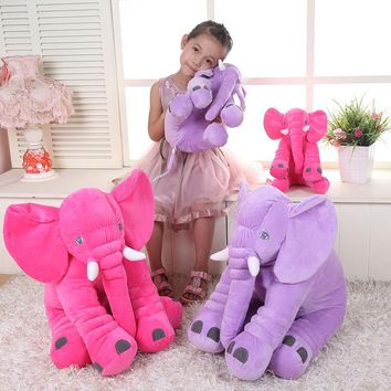 VILEAD Super Soft Plush Toy Elephant Sleeping Pillow for Child Safety Comfortable Doll Home Seat Decorative Animal Throw Pillow