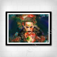 The Joker, The Joker poster, The Joker Instant Download, The Joker print, home decor, The Joker wall art, Watercolor, Jared Leto
